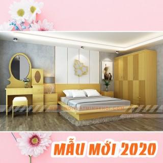 Nội Thất Phòng Ngủ Giá Rẻ Trọn Bộ Màu Gỗ Sồi - BPN901
