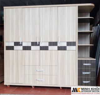 Tủ Quần Áo Cao Cấp Cửa Mở - TA680